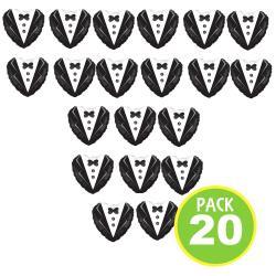 Pack 20 Globos Metálicos, Diseño Corazón Smoking / Fernapet