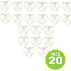 Pack 20 Globos Metálicos, Diseño Corazón Novia 1/ Fernapet