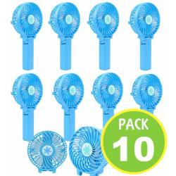 Pack 10 Ventilador Escritorio Recargable Usb 03811/ Fernapet