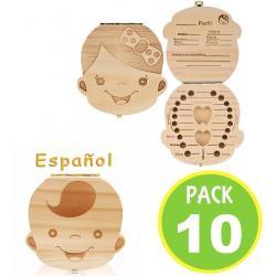 Pack 10 Caja Para Dientes Leche Niñas Niños 14793 Fernapet