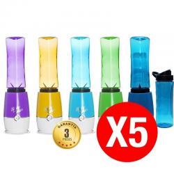 Si buscas Pack De 5 Batidoras Licuadora Con 2 Vasos Portatil 4 Colores puedes comprarlo con TEC-DEPOT está en venta al mejor precio