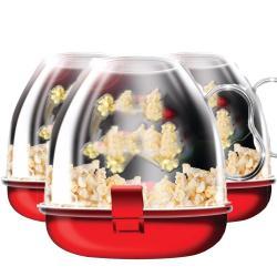 Pack 3 Bowl Maquina Para Hacer Cabritas En Microondas