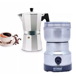 Cafetera Espresso Moka +molinillo Moledor Electrico