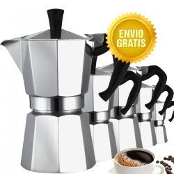 Pack De 5 Cafetera Espresso Moka, Para 6 Tazas Cafe Nuevo