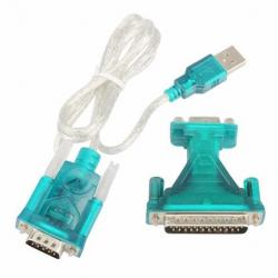 Cable Adaptador Usb A Serial Rs232 9 Pin 25 Pin