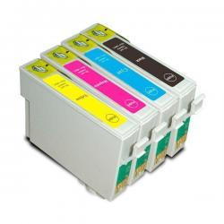 Kit 4 Cartuchos Compatibles Epson 195 Xp 101 201 211 Loi