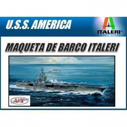 Maqueta De Barco Portaviones Uss America Italeri Colección