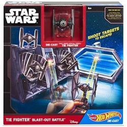 Hot Wheels Kit Star Wars Original Hasbro Batalla De Cazas Ti