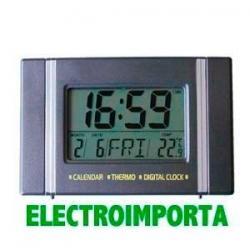 Reloj Digital De Mesa Con Termómetro, Calendario Y Alarma