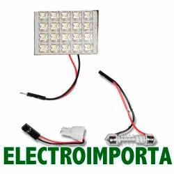 Luz Para Techo Auto 20 Led - Electroimporta