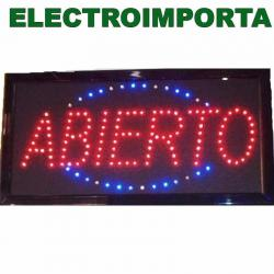 Cartel Led Abierto - Electroimporta -