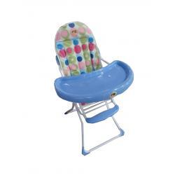 Silla De Comer Para Bebé Plegable Diseño Oso Azul Y Rosa Lg