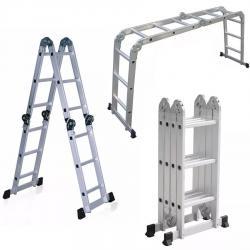 Escalera Aluminio Plegable 3.37 Mt 12 Escalones