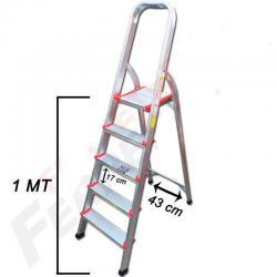 Escalera Aluminio Prima 5 Escalones Antideslizante Familiar
