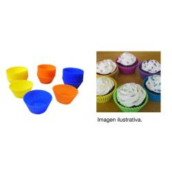 Molde O Pirotines De Silicona Pack 24 Muffins Cupcakes