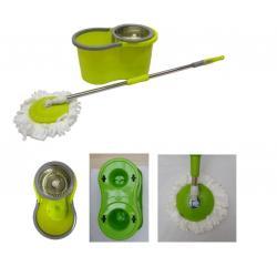 Mopa Giratoria Kit Completo De Limpieza Centrifugadora Acero