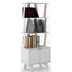 Biblioteca Repisa Minimalista Decorativa Y Funcional Az1003