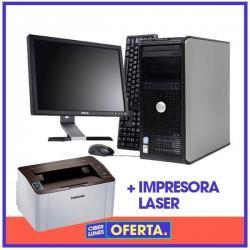 Pc Computadora Dual Grabadora Dvd + Monitor Lcd + Impresora