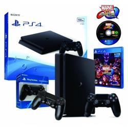 Consola Playstation 4 500gb Slim +joystick Extra +marvel Vs