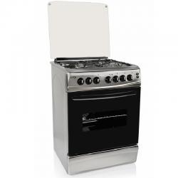 Cocina Combinada Delne 6631 3 A Gas 1 Disco Electrico Inox