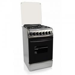 Cocina Combinada Delne 5631 Inoxidable Con Disco Electrico