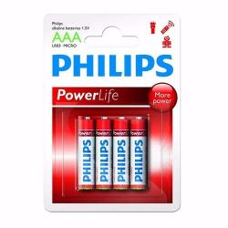 Pilas Philips Alcalinas Aaa Pack X 4 Super Oferta!!! Febo