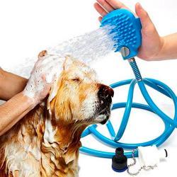 Cepillo Manguera Guante Perros Gatos Mascotas Relajante Spa