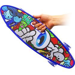 Patineta Tabla Mini Long Skate Board Llantas En Goma Y Luces