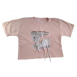 Bluson Camiseta Algodón 100% Talla Única Apliques