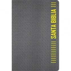 Biblia Ntv Compacta Gris Metalico Ziper Imitacion Con Cierre