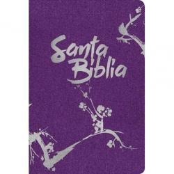 Biblia Ntv Compacta Purpura Metalico Ziper Imitacion Cierre