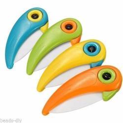Si buscas Cuchillo Cerámica Para Vegetales Frutas Forma De Pájaro puedes comprarlo con TIENDAPABLUS está en venta al mejor precio