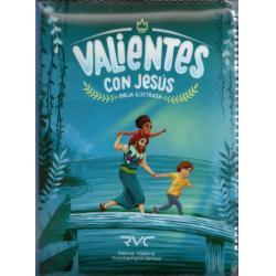 Biblia Ilustrada Valientes Con Jesús Reina Valera Azul