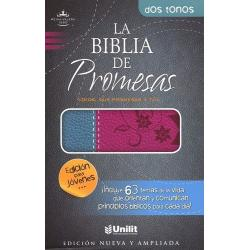 Biblia Promesas Edicion Juvenil Reina Valera 60 Piel Fucsia