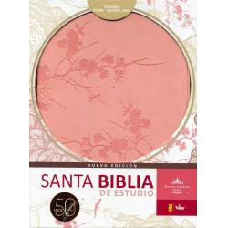 Biblia De Estudio Serie 50 Rosa Dos Tonos