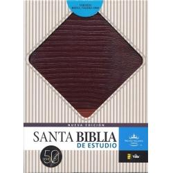 Biblia De Estudio Piel Café-café