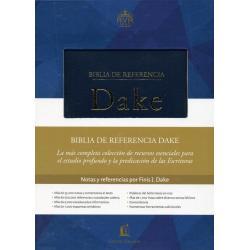 Biblia Referencia Dake Azul Elegante Reina V 1960 Tapa Dura