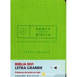 Biblia Nvi Bolsillo Letra Grande C Italiano Verde