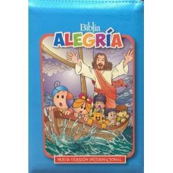 Biblia Alegria Para Niños Nvi Azul Claro