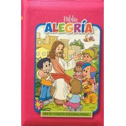 Biblia Alegría Para Niñas Nvi Rosa Fuerte