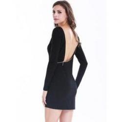 Si buscas Nuevo Vestido Corto Negro Espalda Descubierta Entallado S puedes comprarlo con BOUTIQUE EUNICE LENCERIA está en venta al mejor precio