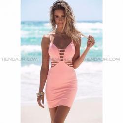 Si buscas Nuevo Vestido Corto Con Aberturas Laterales Rosado Tiendajr puedes comprarlo con BOUTIQUE EUNICE LENCERIA está en venta al mejor precio