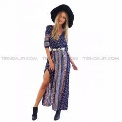 Si buscas Nuevo Vestido Bohemio Largo Geometrico Talla M Tienda Jr puedes comprarlo con BOUTIQUE EUNICE LENCERIA está en venta al mejor precio
