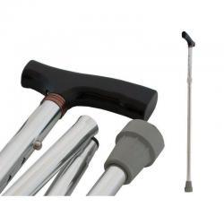 Baston Plegable En Aluminio Ajustable Apoyo Antideslizante