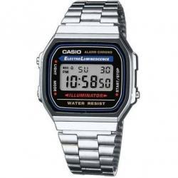 Reloj Casio 100% Original Retro Plateado Unisex A168wa