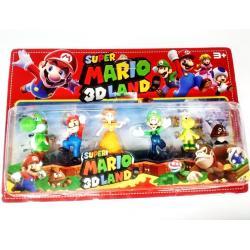 Super Mario 3d Land Juego De Colección 7 Cm
