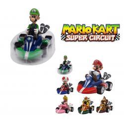 Super Mario Bross Kart Figuras Car Coches Carros Niños