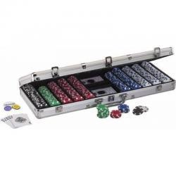 Set De Poker De 500 Ficihas + Dos Barajas, Caja De Lujo