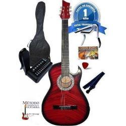 Guitarra +afinador+forro+colgador+pua+capodastro+bono
