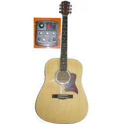 Guitarra Electroacustica Folk Hoofer Garantia 1 Año